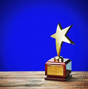 Star shaped trophy